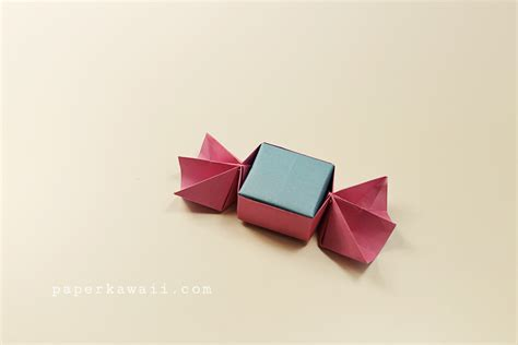 Origami Chocolate Box - sweet origami box tutorial paper kawaii