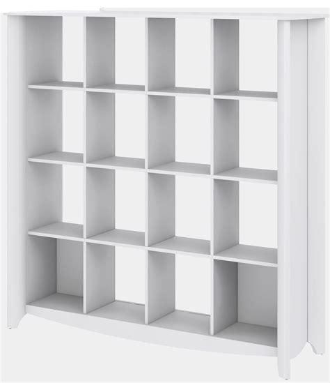 16 cube bookcase white aero white 16 cube bookcase room divider from bush