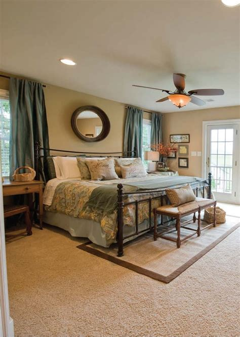 master bedroom in restored original farmhouse with