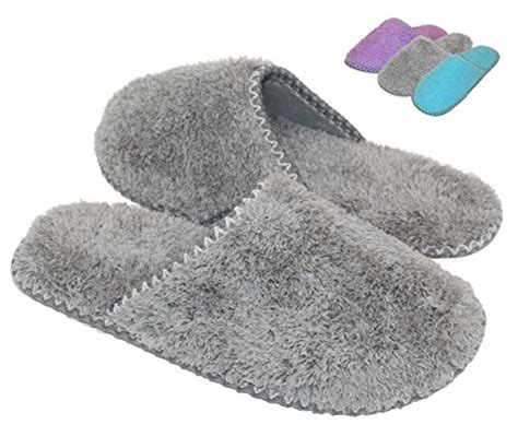 cozy house slippers hometop women s cozy plush fleece slip on memory foam house slippers bestselling