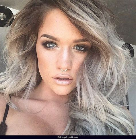 grey hair on pinterest ash grey hair on pinterest grey brown hair grey highlights