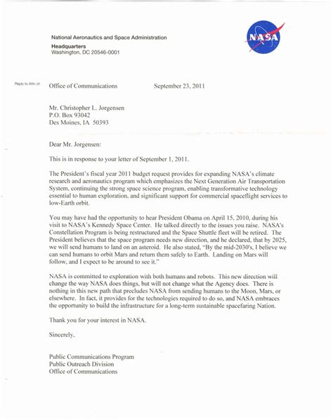 Nasa Response Letter Mentos Nasa Letter Page 3 Pics About Space