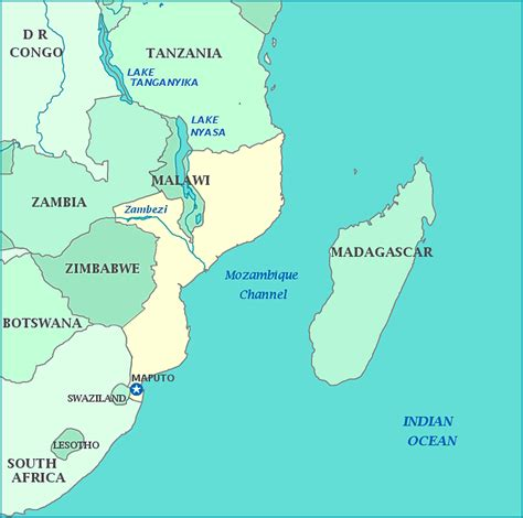 africa map mozambique map of mozambique