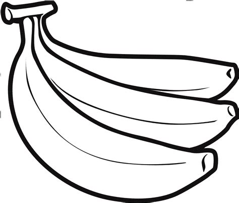 banana fruit coloring page for kids boys and girls