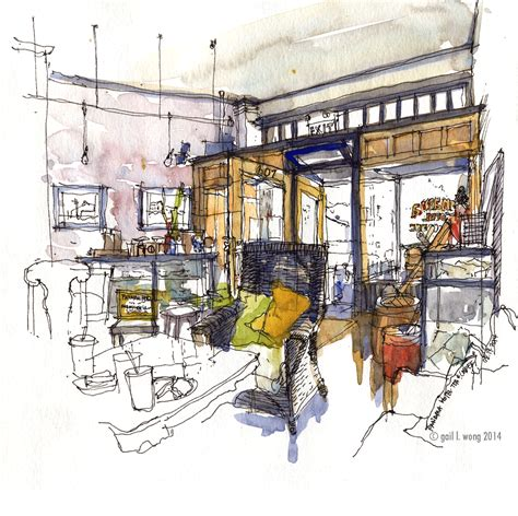 coffee shop design dwg beyond starbucks urban sketchers