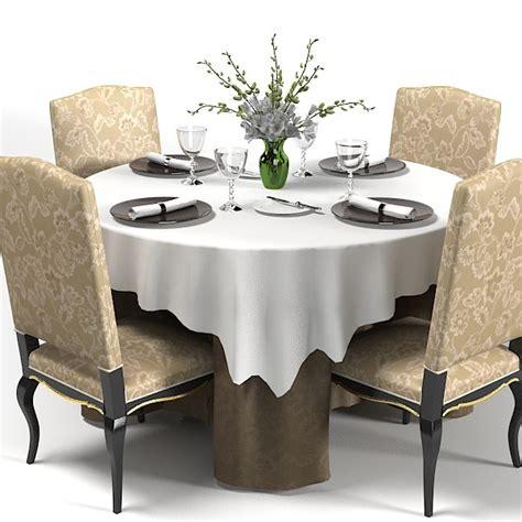 table restaurant 3d model