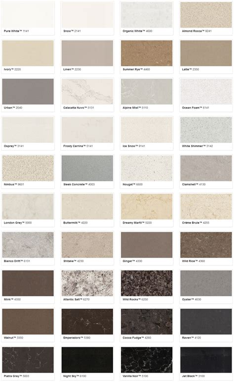 caesarstone colors chart 28 images kitchens