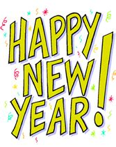 happy new year free printable greeting cards template