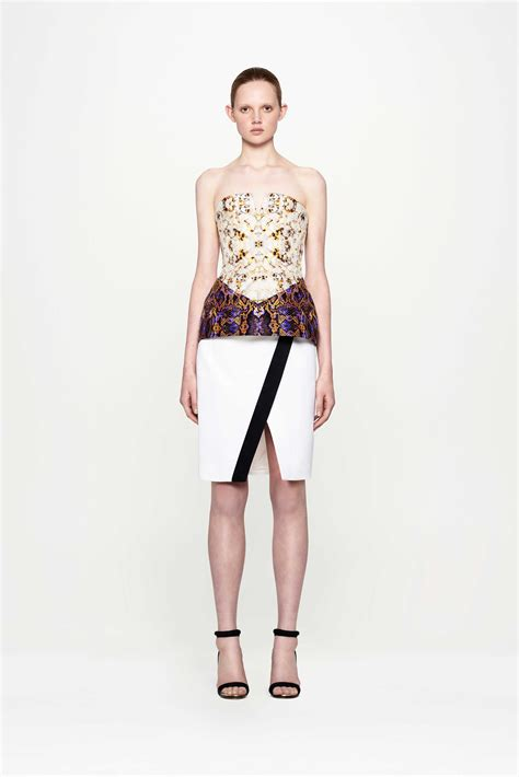 josh goot corset wrap pencil skirt