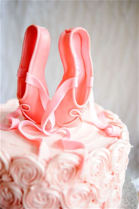 Balet Shoes Birthday Cakes pink ballet pointe shoes birthday cake gray barn baking