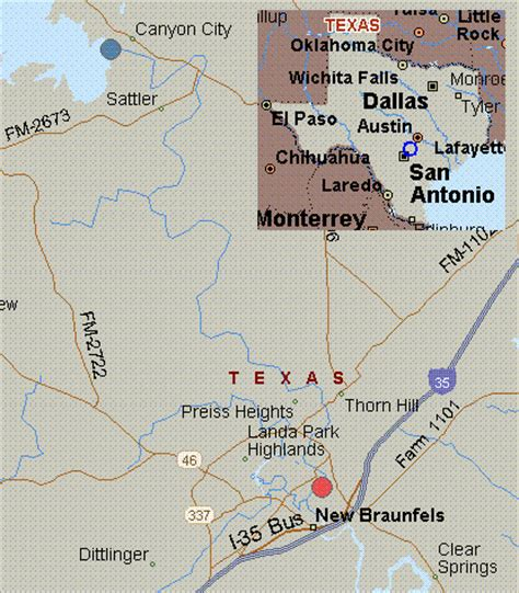 guadalupe river texas map map for guadalupe river texas white water dam to cypress bend park