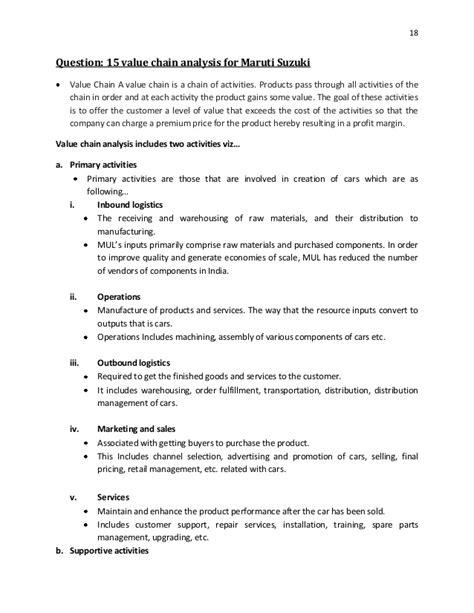 Project On Maruti Suzuki Strategic Management Project On Maruti Suzuki Udhog Limited