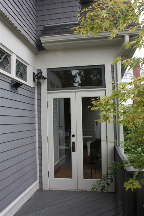 tall narrow french doors   transom overhead french