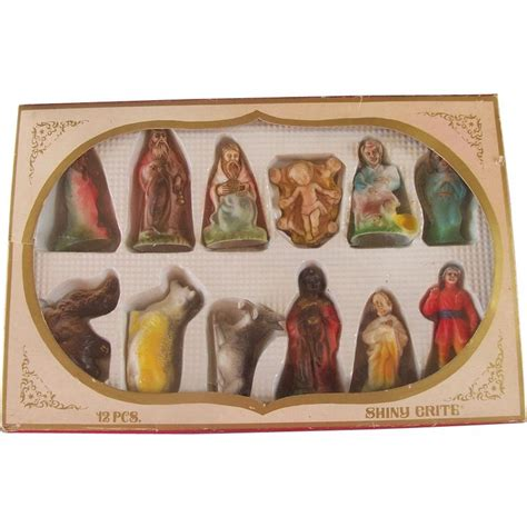 shiny brite 12 piece clay nativity set 23 best the nativity images on nativity set the nativity and nativity