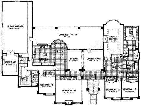 southwestern floor plans adobe southwestern style house plan 4 beds 3 baths