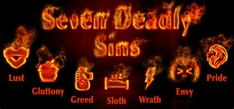 deadly sins what are the seven deadly sins bibleinfo