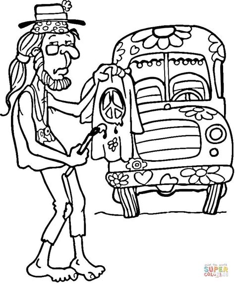 hippie coloring pages hippie coloring page free printable coloring pages