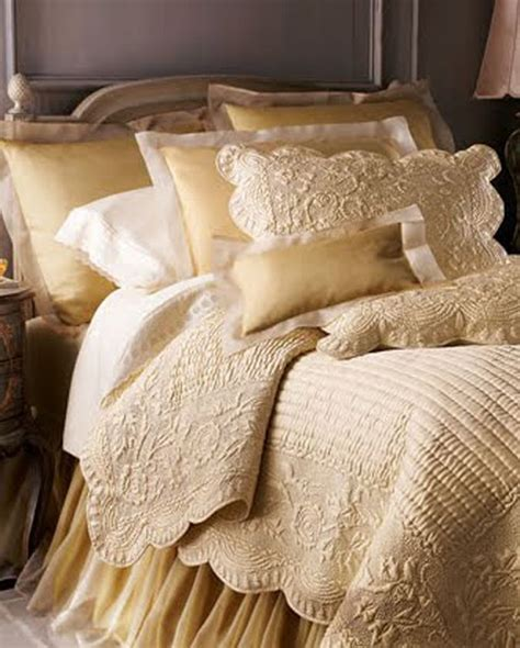 cream coverlet gold and cream bedding bedroom spaces pinterest