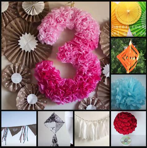 5 ideas para decorar fiestas con papel bonitos detalles diy para fiestas de los 15 manualidades