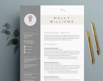 Resume Template 3 Page Moonlight by Resume Template And Cover Letter Template For Word Diy