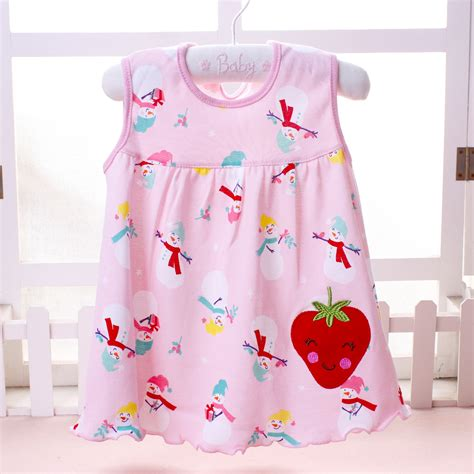 Dress Baby 0 12 Month 2018 summer one year baby cotton dress infant