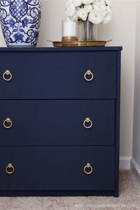 blue nightstand diy fabric covered nightstand navy blue diy