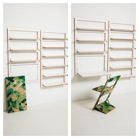Fold Out Shelf by Folding Shelving By Ambivalenz