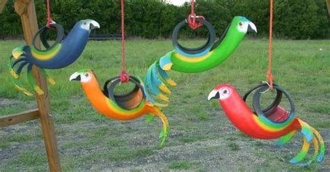 unique swings for kids tropical tire swings recycled creations designs include