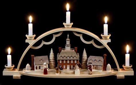 candle arch colonial village 47x11x20cm 19x4x8in by