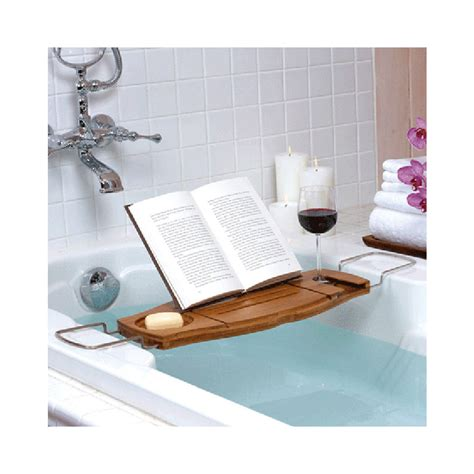 bathtub shelf caddy new umbra aquala bathtub caddy shower natural bamboo book