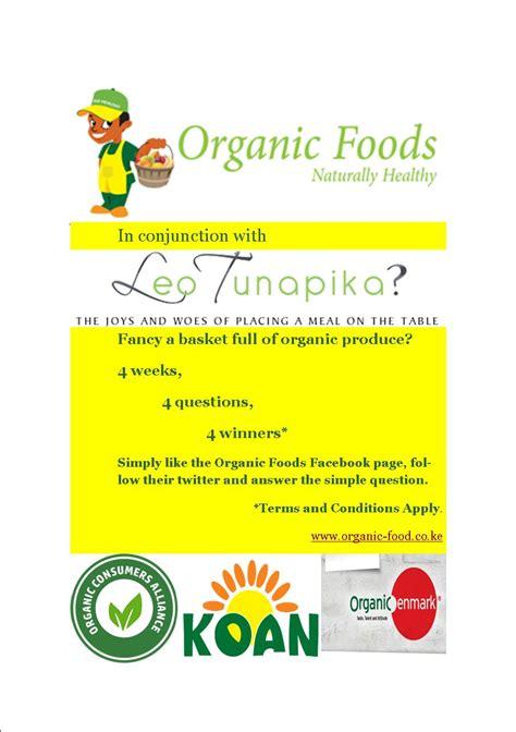 Organic Giveaway - organic foods giveaway closed leo tunapika