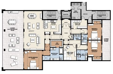 luxury 4 bedroom apartment floor plans fresh in great