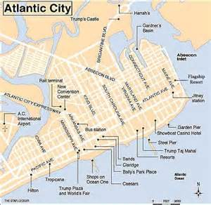 map showing the hotels of atlantic city new jersey with