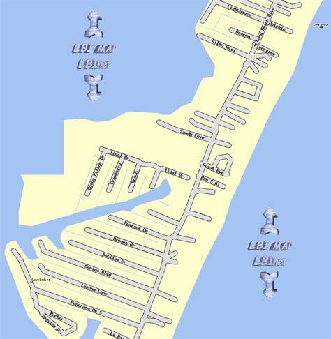 lbi map lbi maps section 16 loveladies island nj