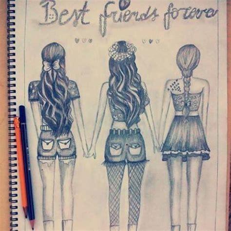 Drawing W Friends by Types 12 Best Friends Drawings Best Friends