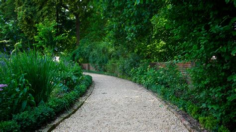 backyard walking paths walking path in garden free stock photo public domain