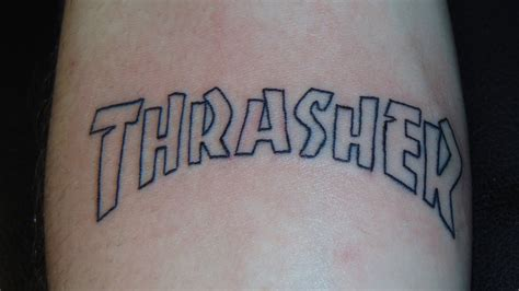 thrasher tattoo getting his thrasher time lapse
