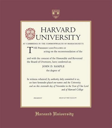 Harvard Extension Mba by Custom Diploma Frames Certificate Frames Framing