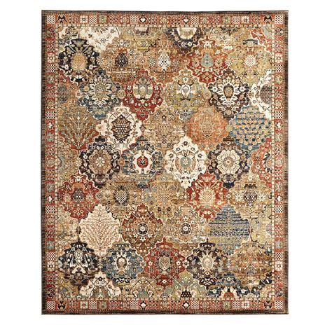 Patchwork Area Rug - home decorators collection patchwork medallion multi 5 ft