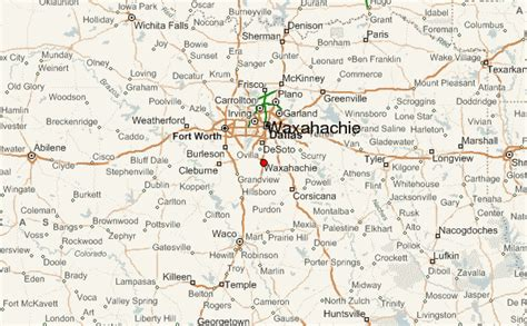 map of waxahachie texas waxahachie location guide