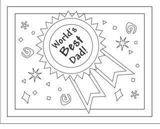 Fathers Day Diy Colouring Card Printables Hobby In A Box Card Templates To Color
