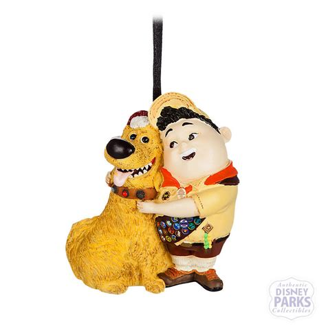 disney parks christmas ornament pixar up russell and dug