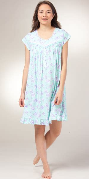 cotton knit nightgowns plus size plus size pima cotton nightgown eileen west mint
