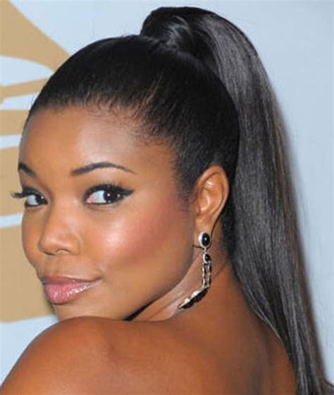 ponytail black hairstyles glamorous 13 long hairstyles for black women 2016 2017