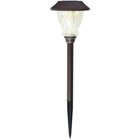 Hton Bay Solar Bronze Outdoor Integrated Led 3000k 10 Hton Bay Solar Path Light