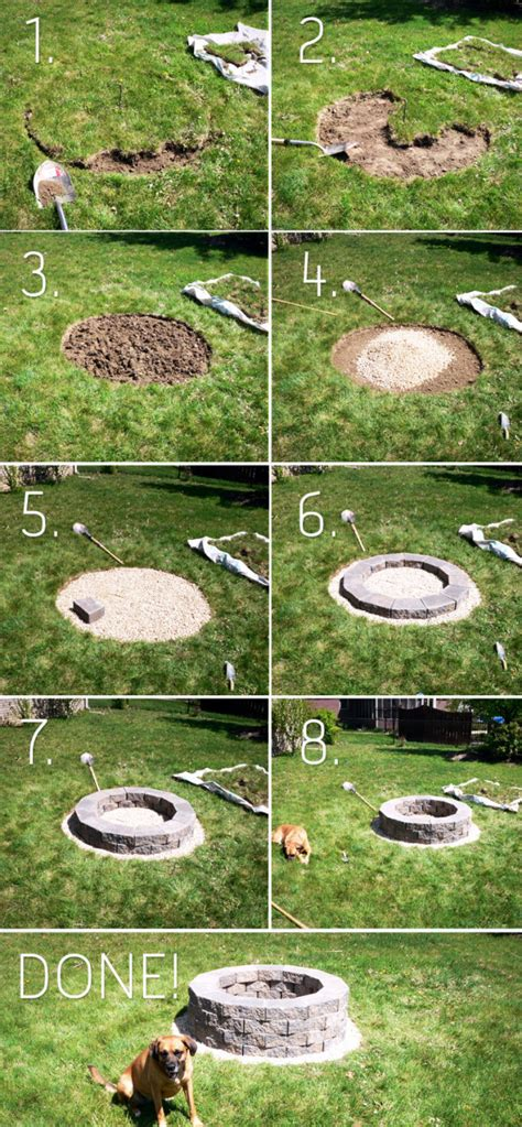 How To Make A Fire Pit How To Build A Backyard Firepit