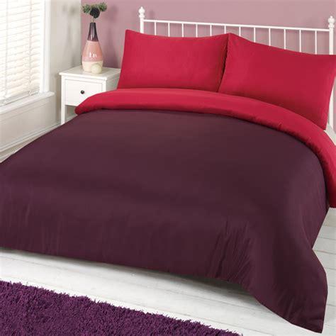 plain bed linen sets linens limited plain reversible duvet cover set ebay