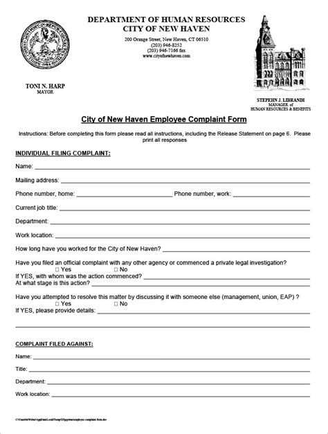 23 Hr Complaint Forms Free Sle Exle Format Free Premium Templates Hr Complaint Form Template