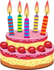 Decorate Home For Birthday Party vector birthday cake with burning candles stock vector
