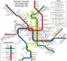 Metro Dc Map by Washington Dc And Metro Map